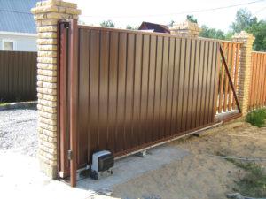 Откатные ворота в Зеленограде. Установка и монтаж
