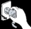 При проведении чистки кондиционера отключайте подачу питания