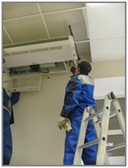 Монтаж кондиционеров потолочного типа, услуги компании Мипротех