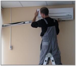 Установка сплит систем и напольно потолочных кондиционеров