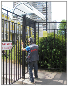 Монтаж домофона на калитку услуги компании Мипротех