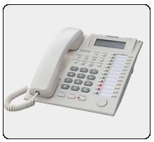 Аналоговый системный телефон Panasonic KX-T7735RU (4-проводный)